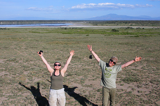 Enjoying the Green Season - Lake Ndutu - February 24, 2011