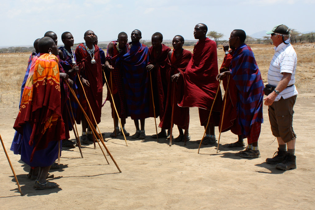 With the Maasai