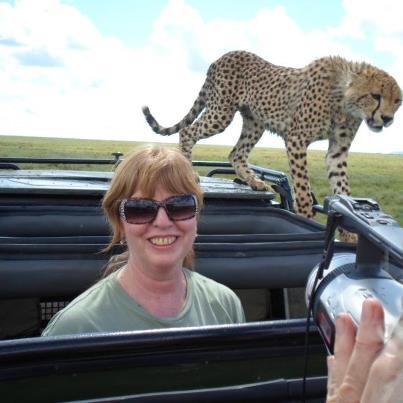donna cheetah on car
